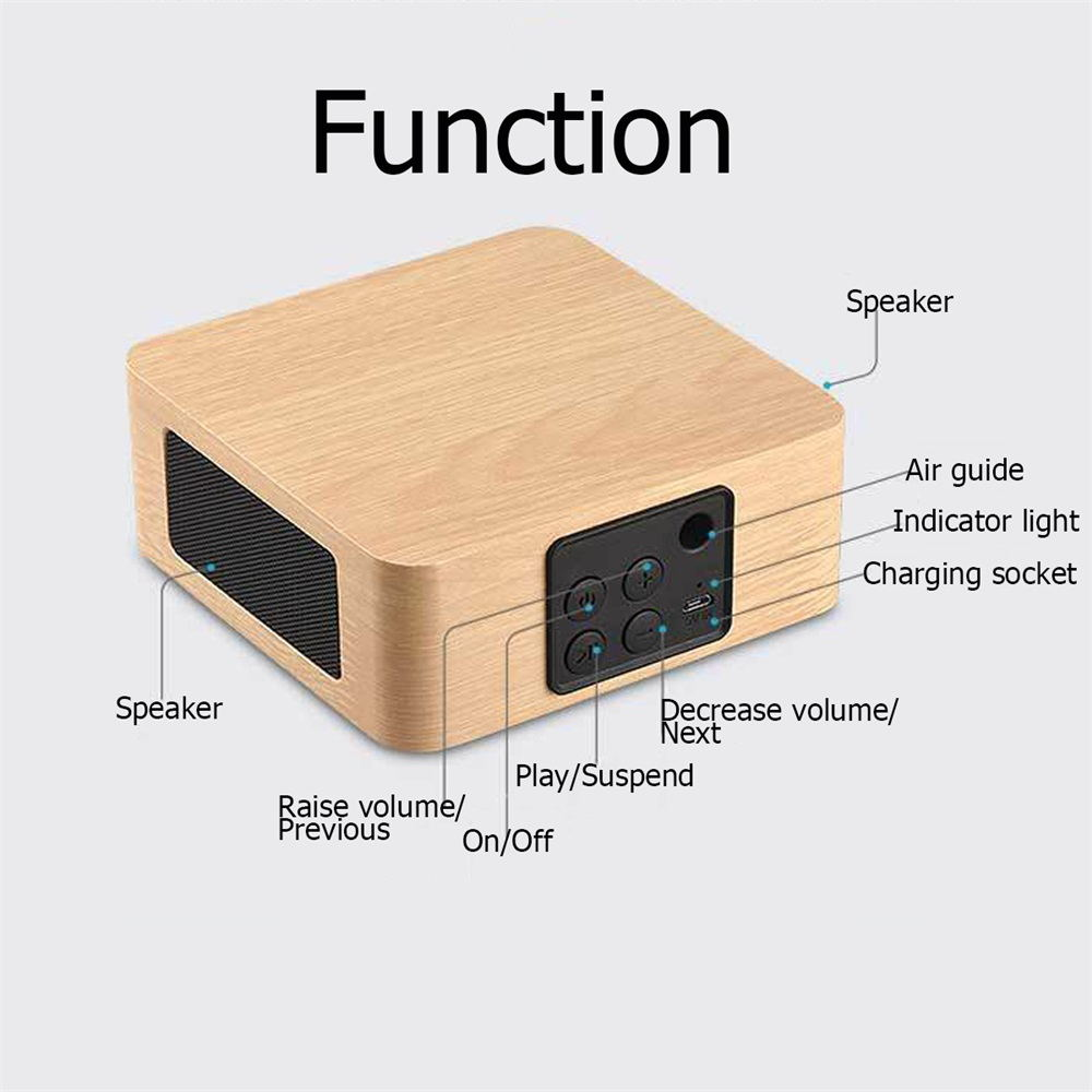 buy q1a wooden bluetooth speaker