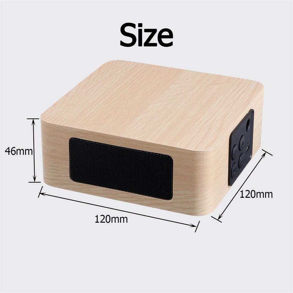 new q1a wooden bluetooth speaker