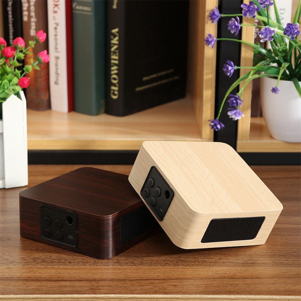 best q1a wooden bluetooth speaker