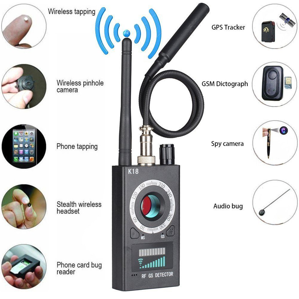 new quelima k18 wireless car signal gps jammer detector