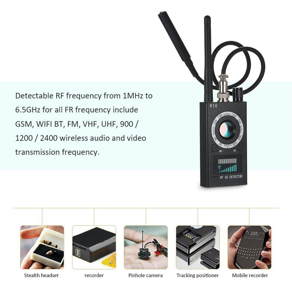 quelima k18 wireless car signal gps jammer detector 2019