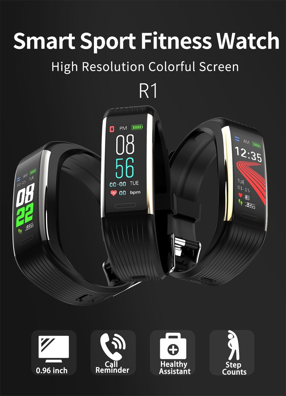 r1 bluetooth smart wristband
