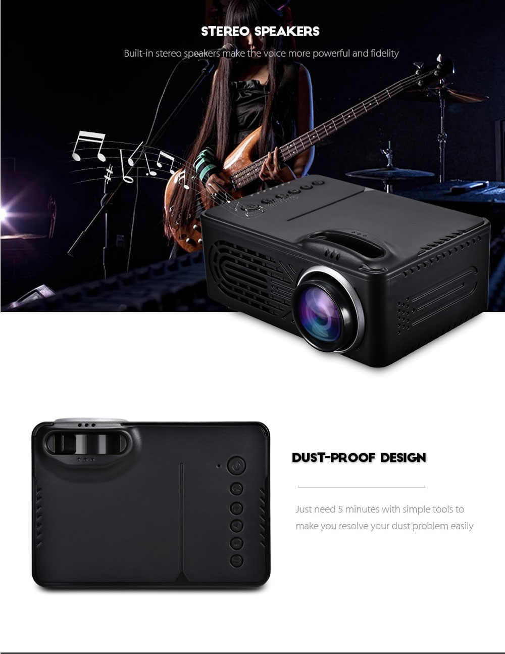 rigal rd-814 mini projector for sale