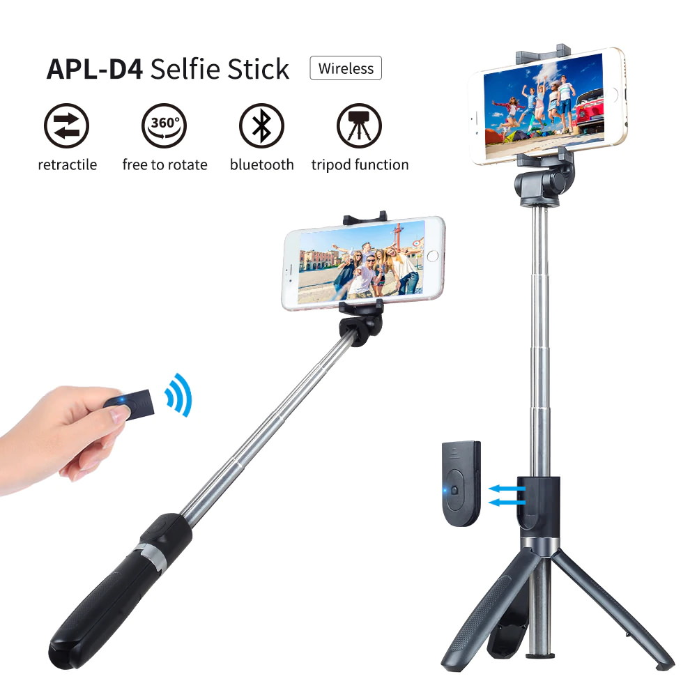 buy apexel 3 in 1 selfie stick
