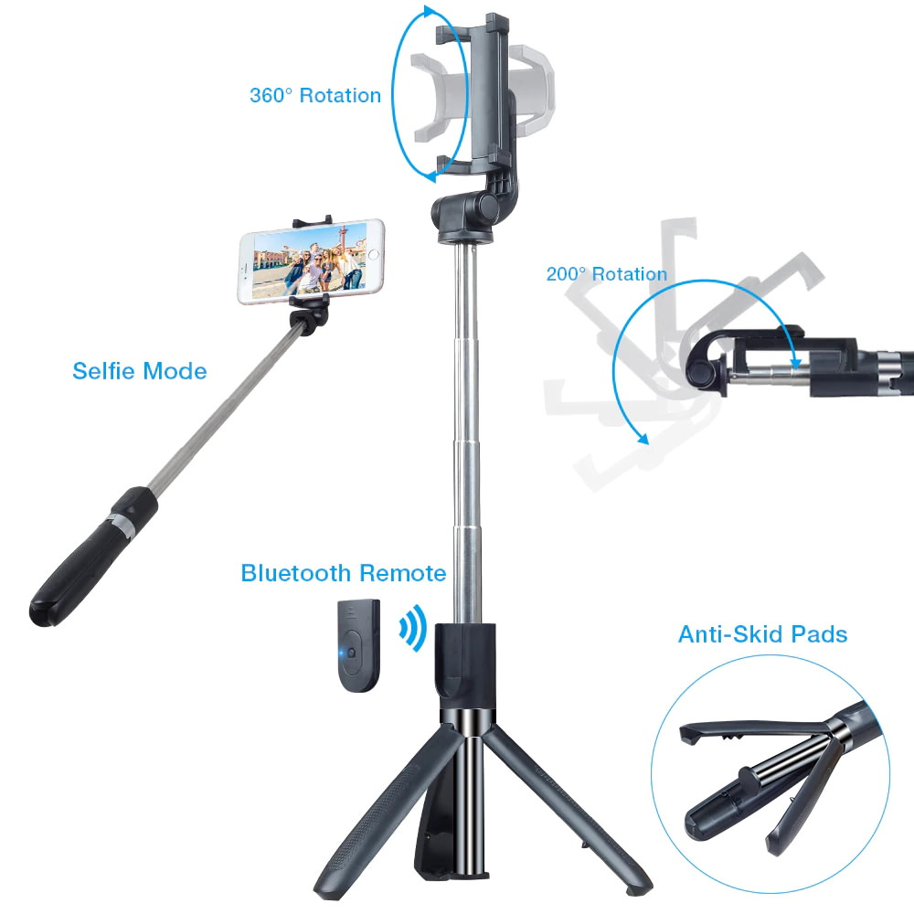apexel 3 in 1 selfie stick for sale