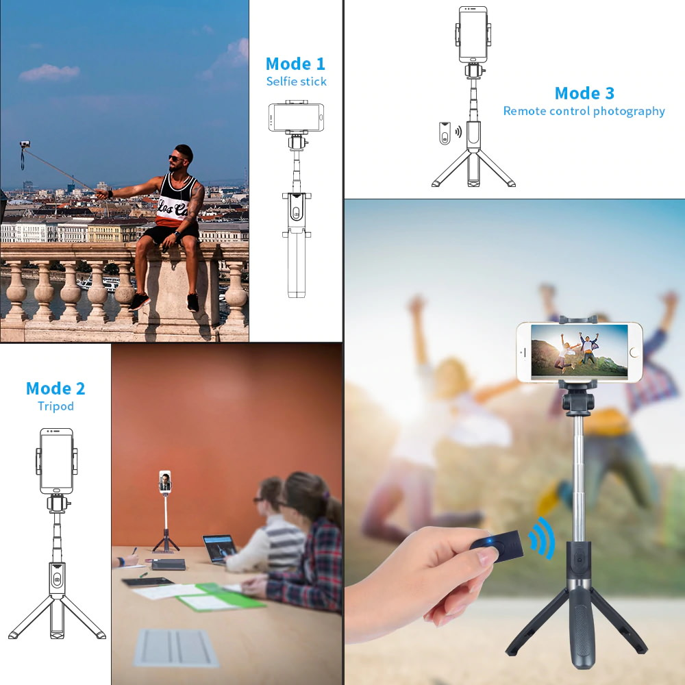 apexel 3 in 1 selfie stick price