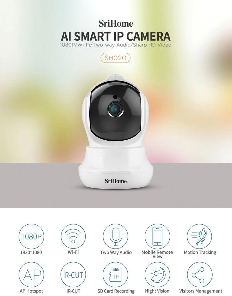sricam sh020 wifi 1080p ip camera