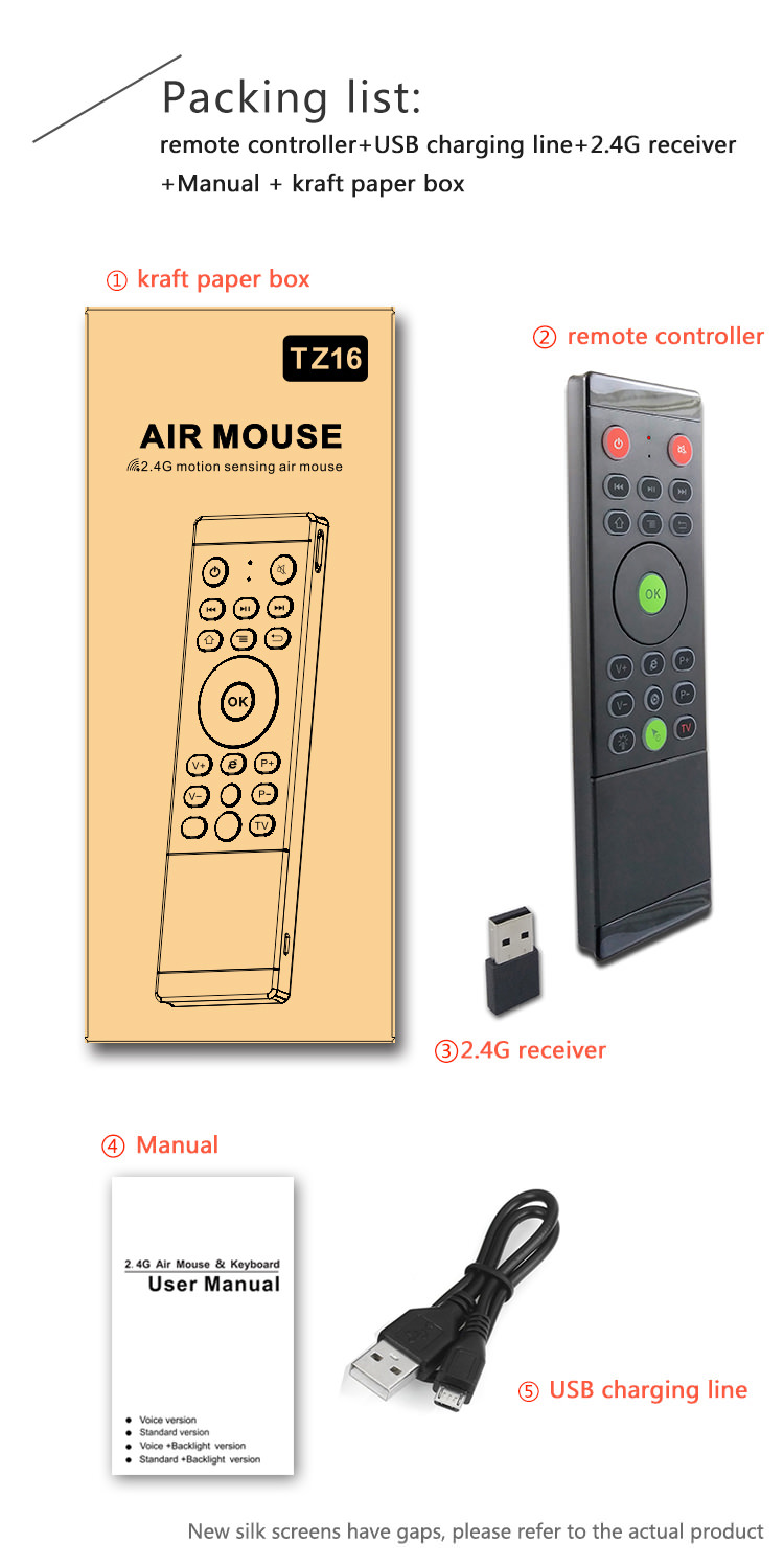 tz16 2.4ghz air mouse for sale