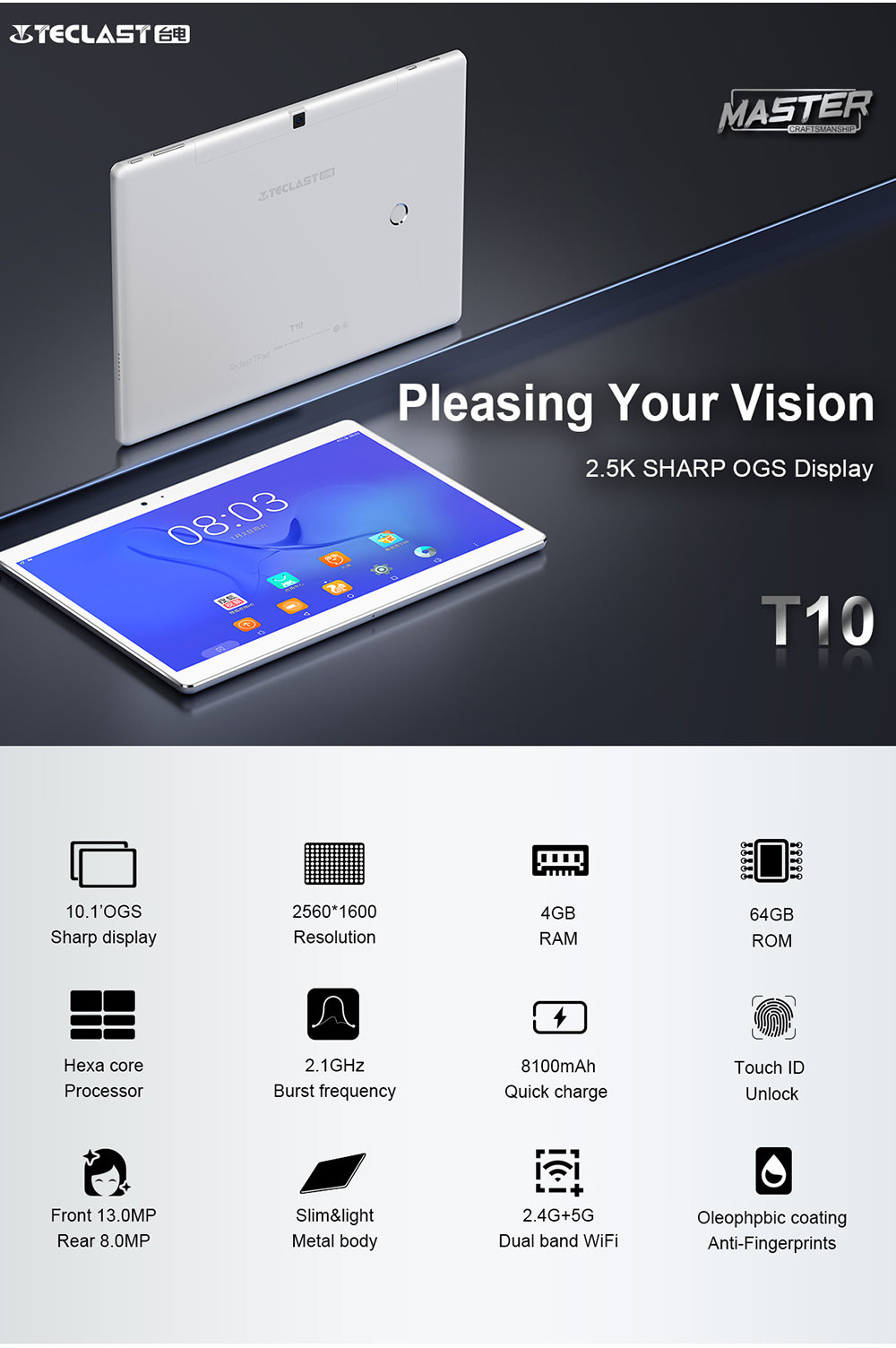 teclast t10 tablet pc 4gb 64gb