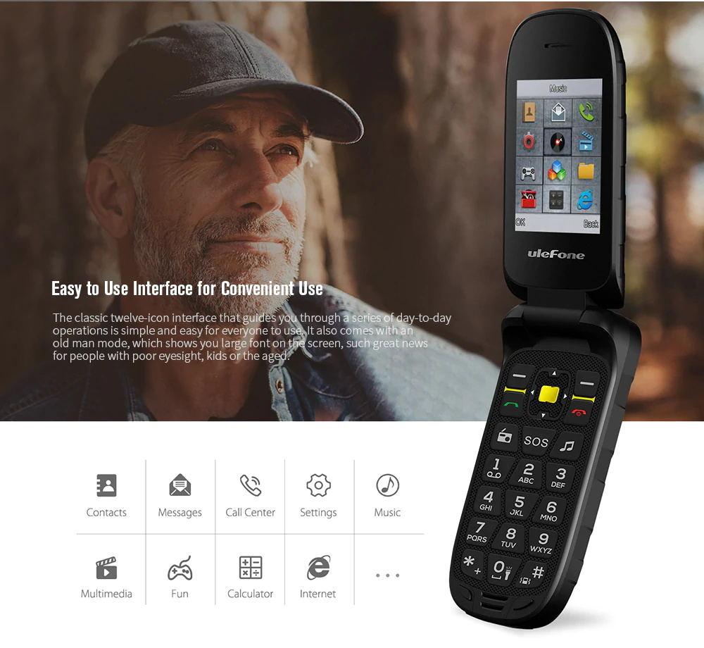 new ulefone armor flip 2g phone