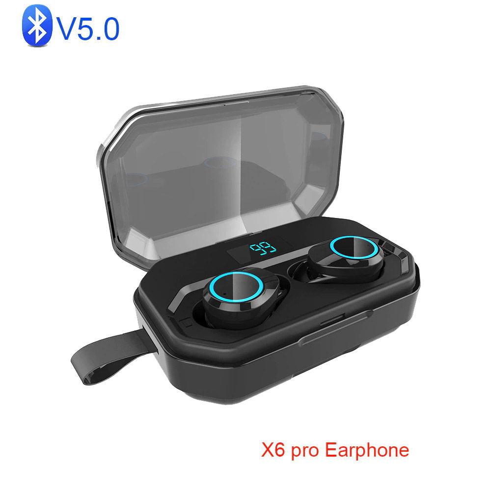 x6 pro tws wireless bluetooth earphones