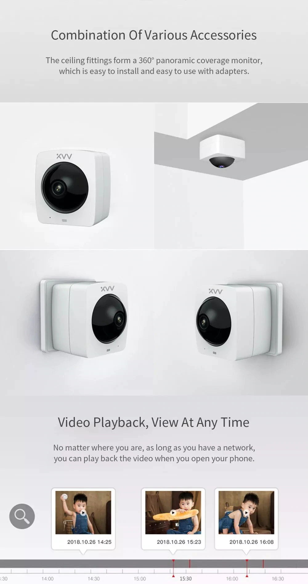 buy xiaomi xiaovv xvv-1120s-a1 panoramic ip camera