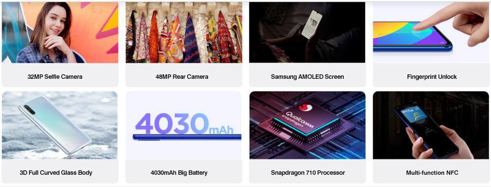 buy xiaomi mi cc9 4g smartphone 6gb/128gb
