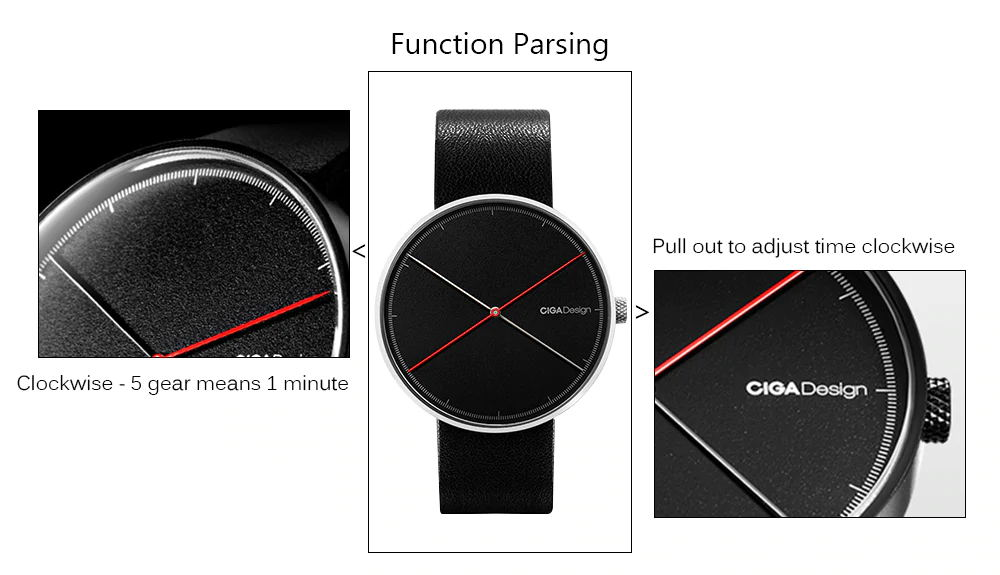 buy xiaomi ciga x series dual-needle quartz watch