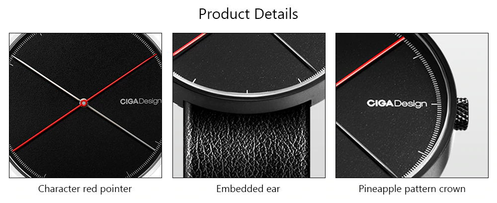 new xiaomi ciga x series dual-needle quartz watch