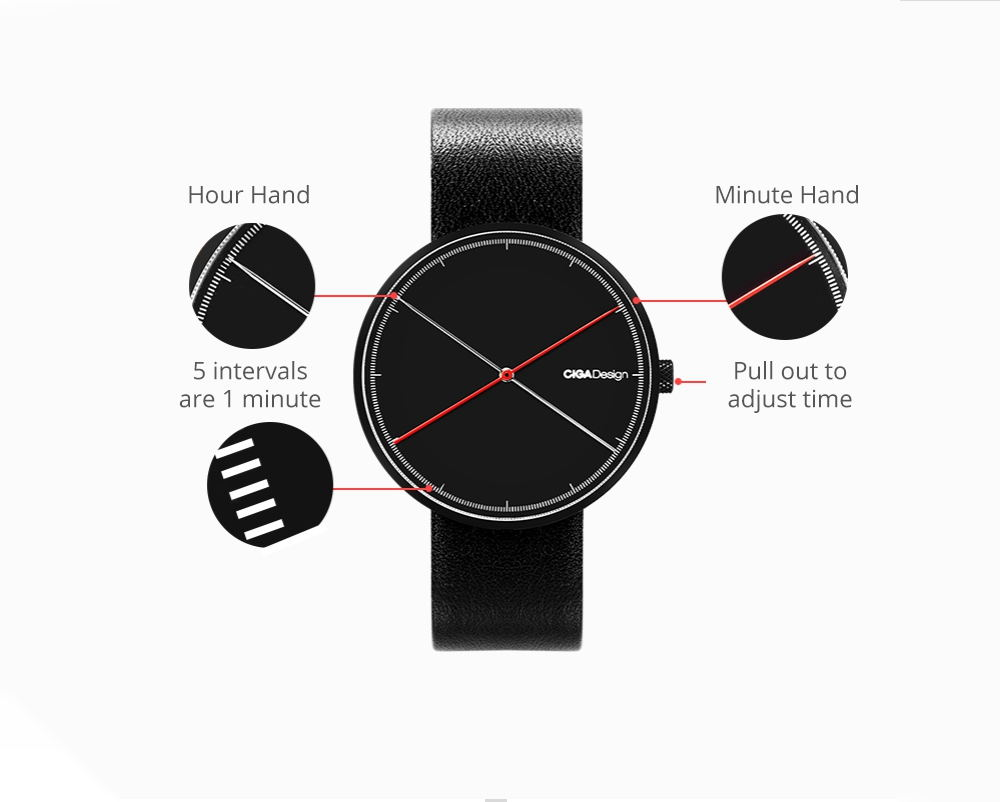 2019 xiaomi ciga x series dual-needle quartz watch