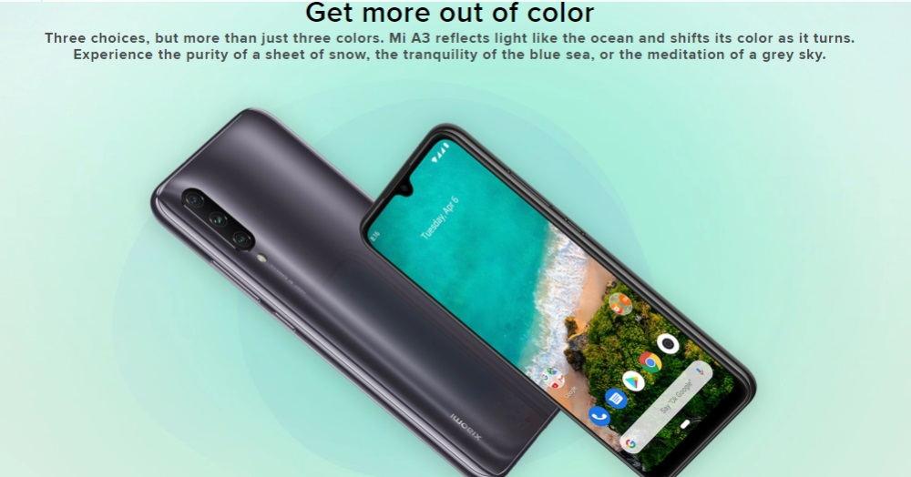 2019 xiaomi mi a3 smartphone 128gb