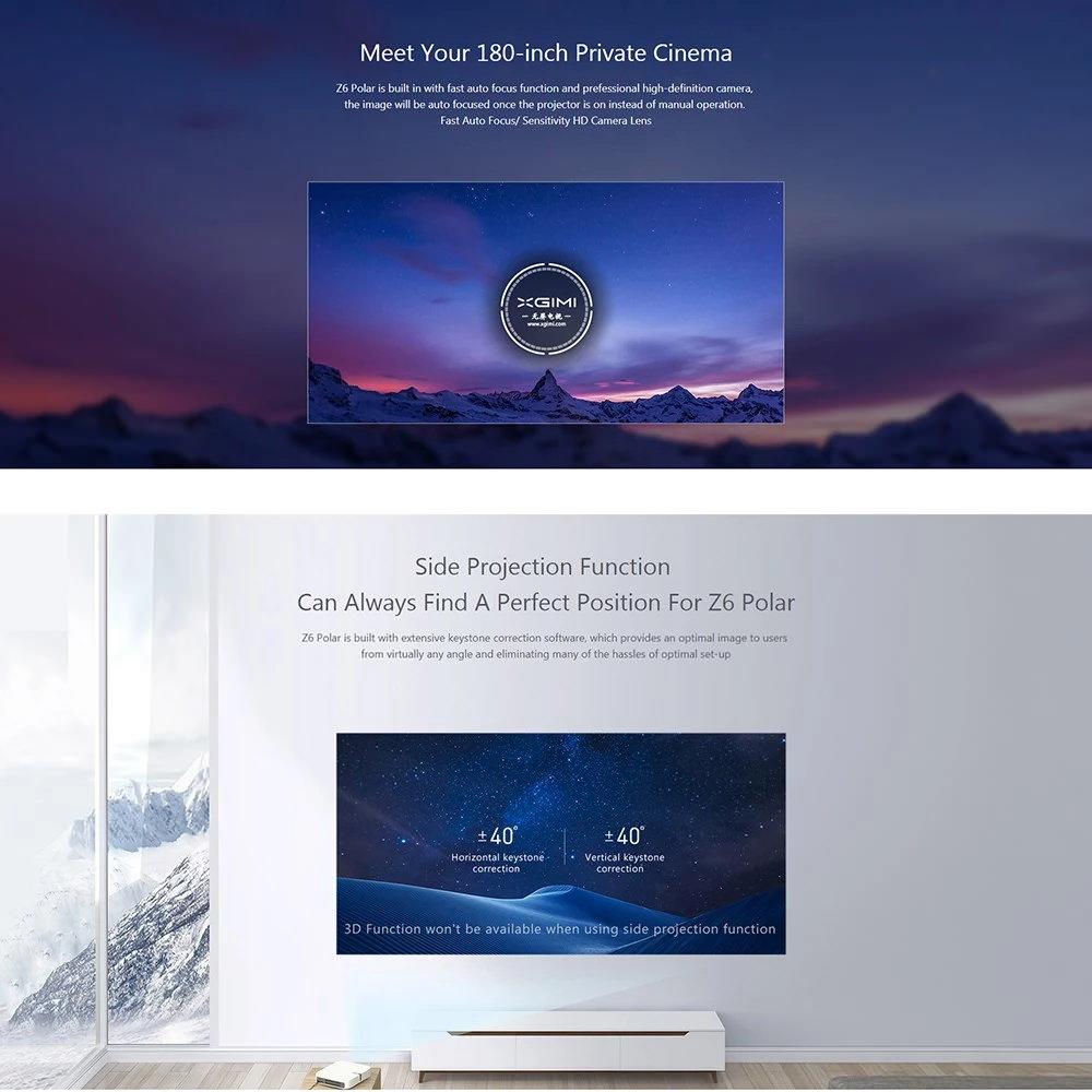 new xiaomi xgimi z6 polar projector