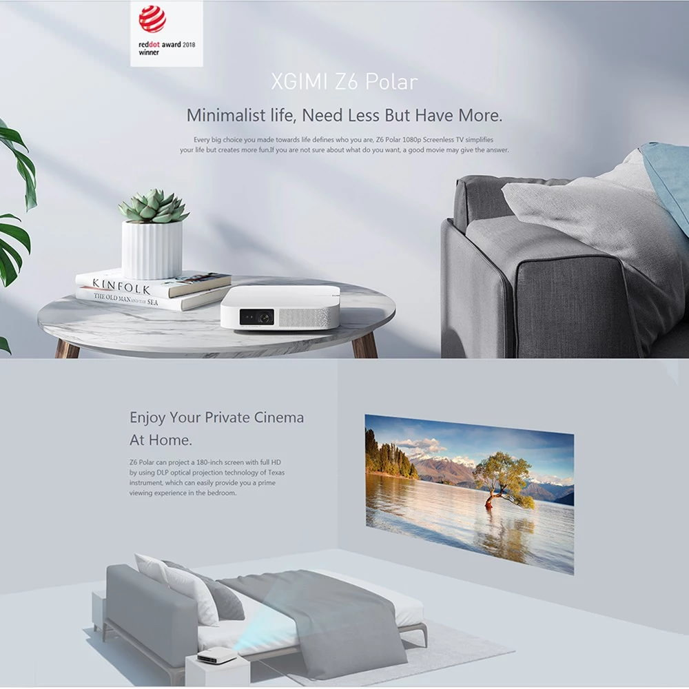 new xiaomi xgimi z6 polar projector global version