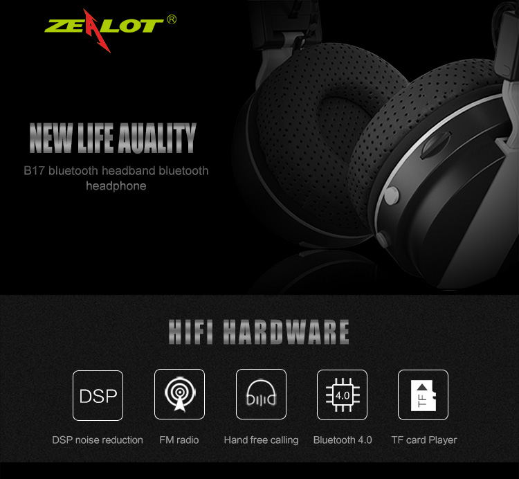zealot b17 wireless bluetooth headset