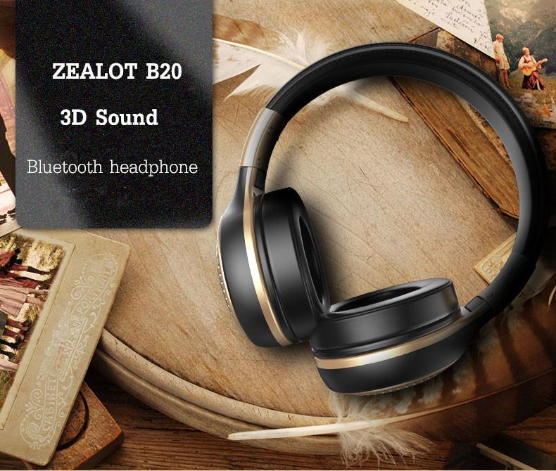 zealot b20 wireless bluetooth headphone