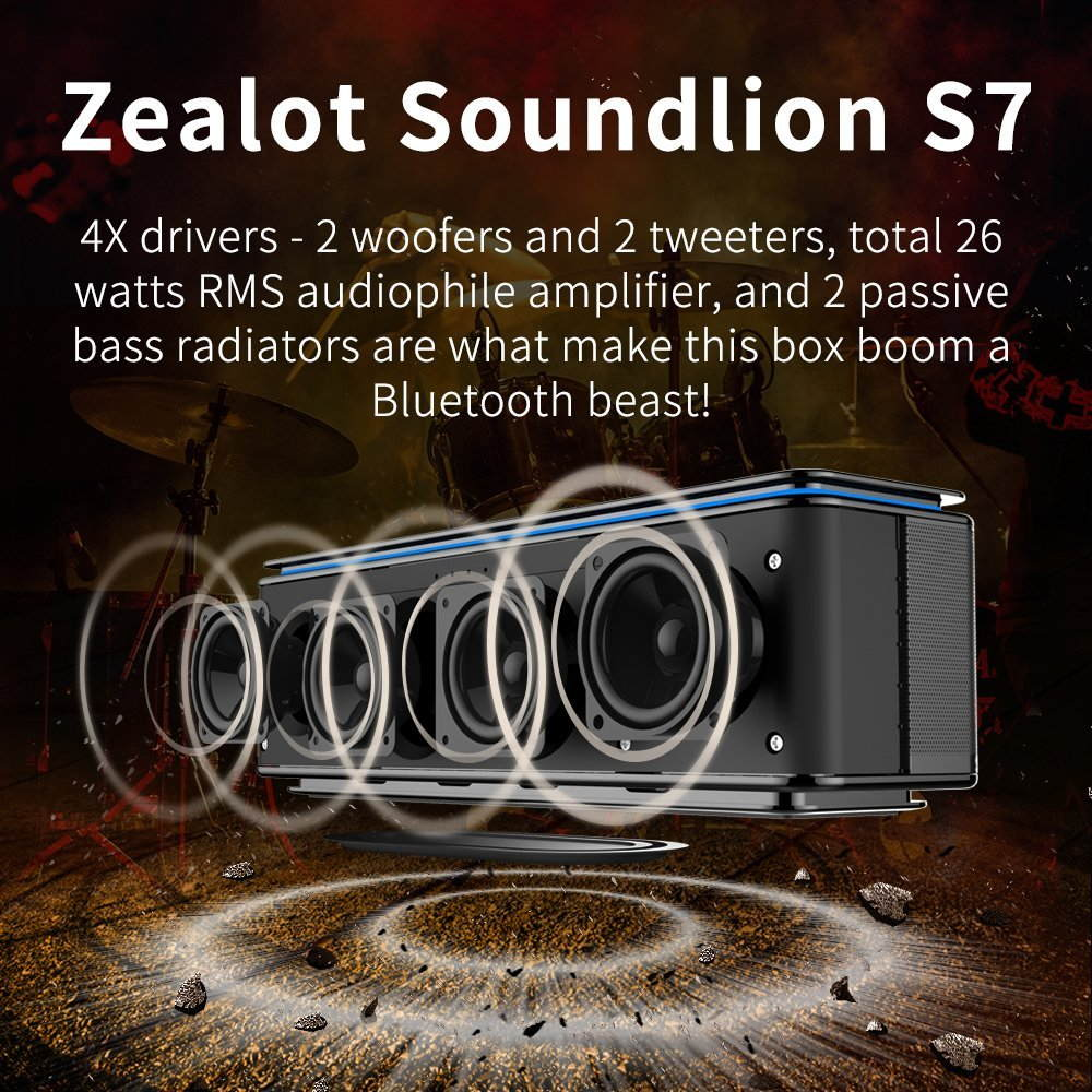 zealot s7 wireless bluetooth speaker