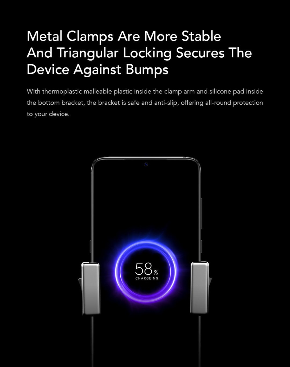 xiaomi zmi wcj10 wireless charger phone mount for sale