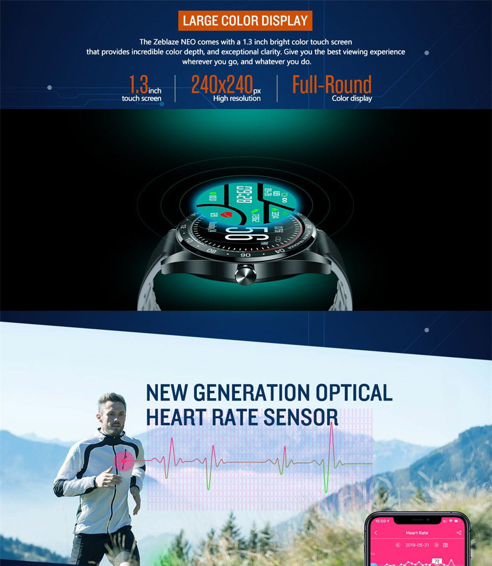 zeblaze neo bluetooth smartwatch for sale