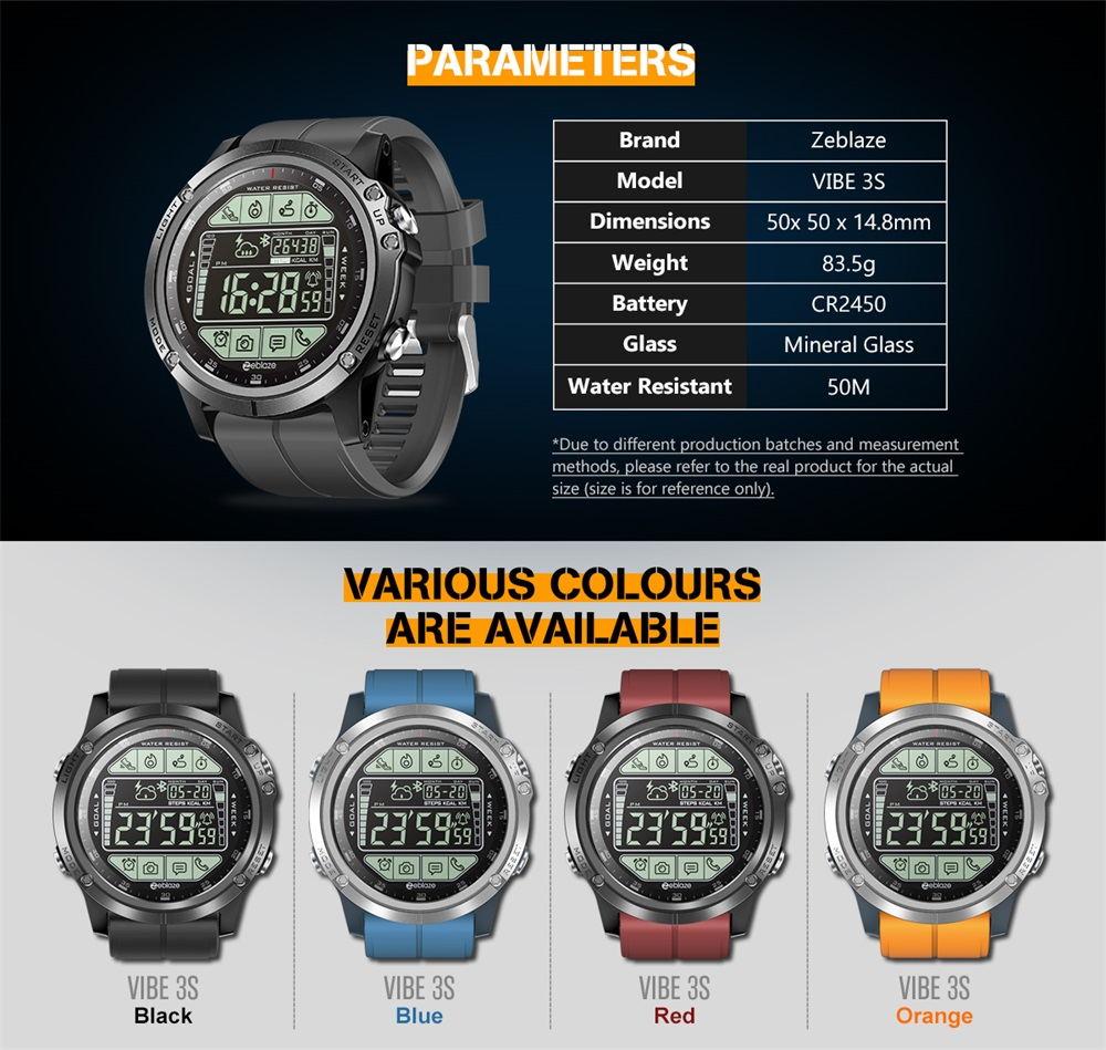 2019 zeblaze vibe 3s smartwatch