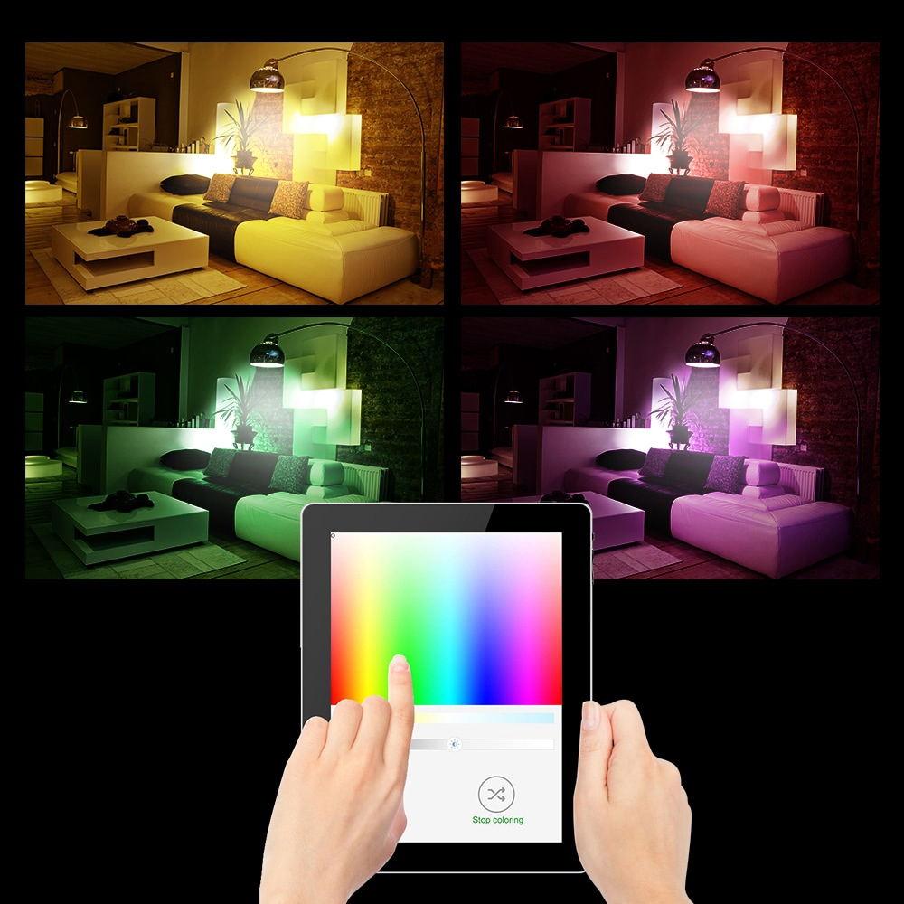 buy jiawen e27/e26 9w 750lm rgbw smart bulb
