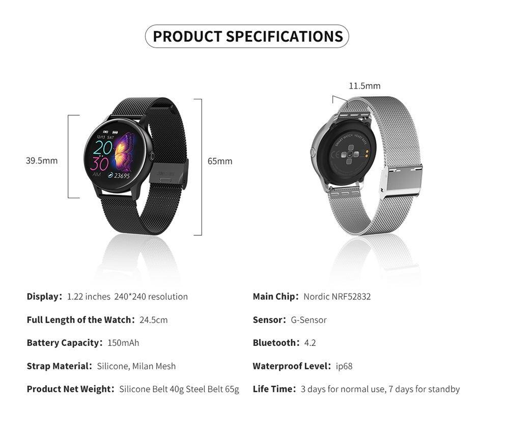 dt88 smartwatch 2019