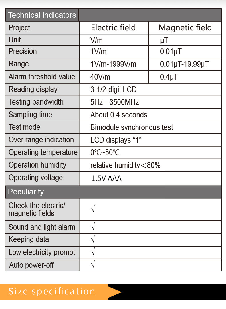 new et825 gas detection radiation tester