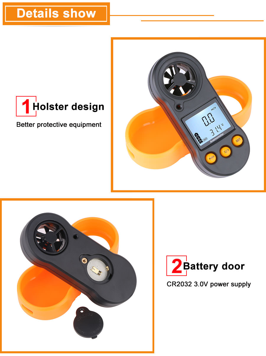 2019 gm816 portable anemometer thermometer