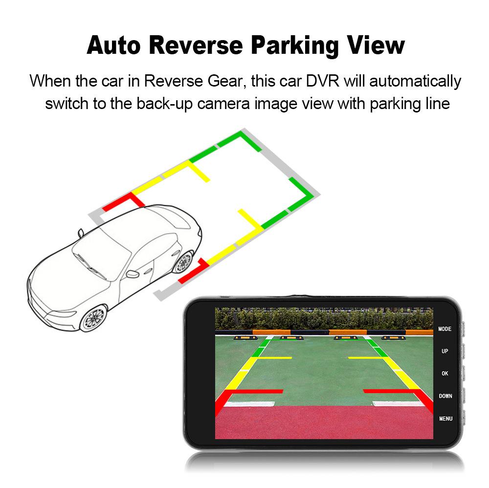 gt29 dual lens car dvr driving recorder 2019
