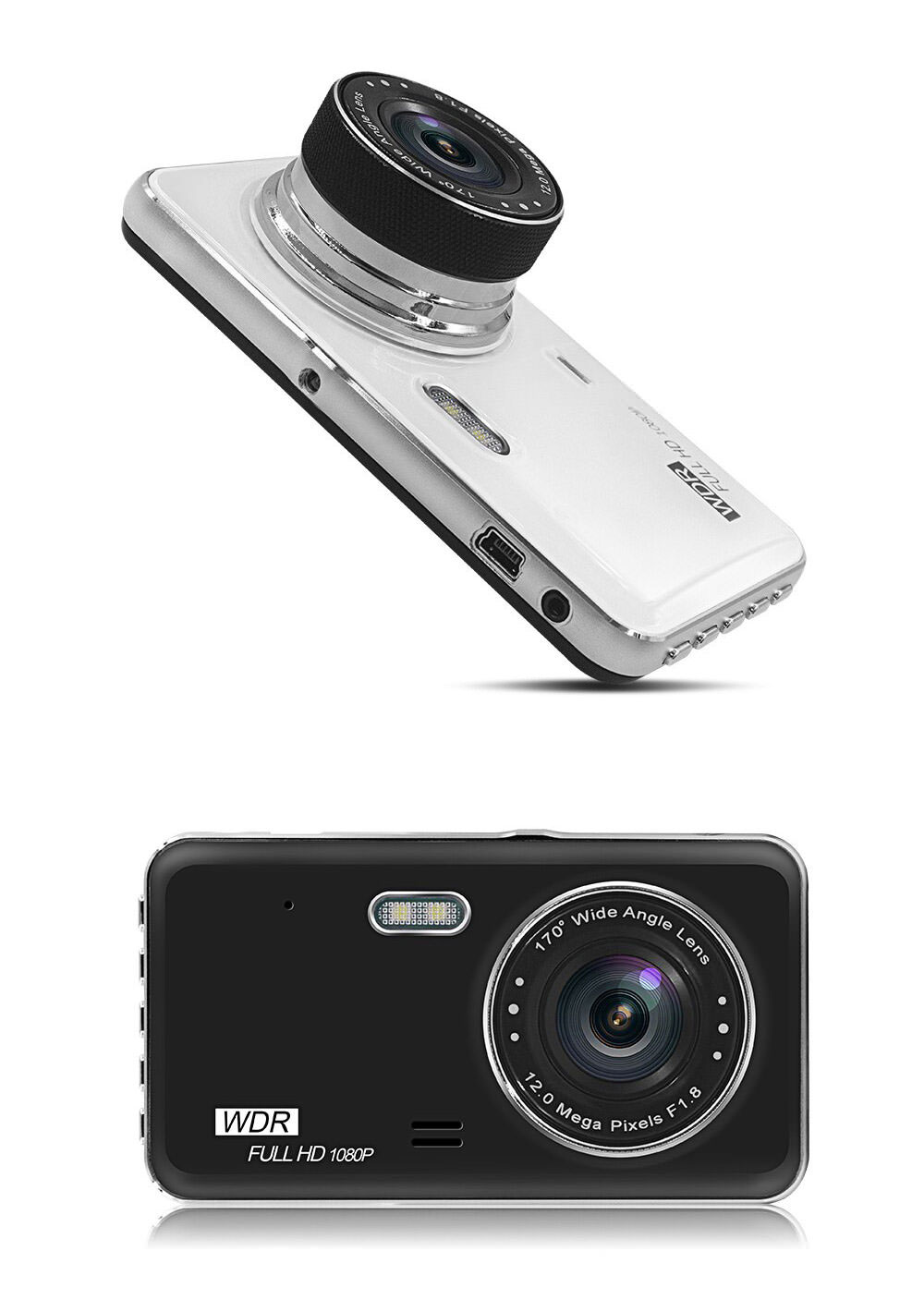 review gt29 dual lens car dvr driving recorder