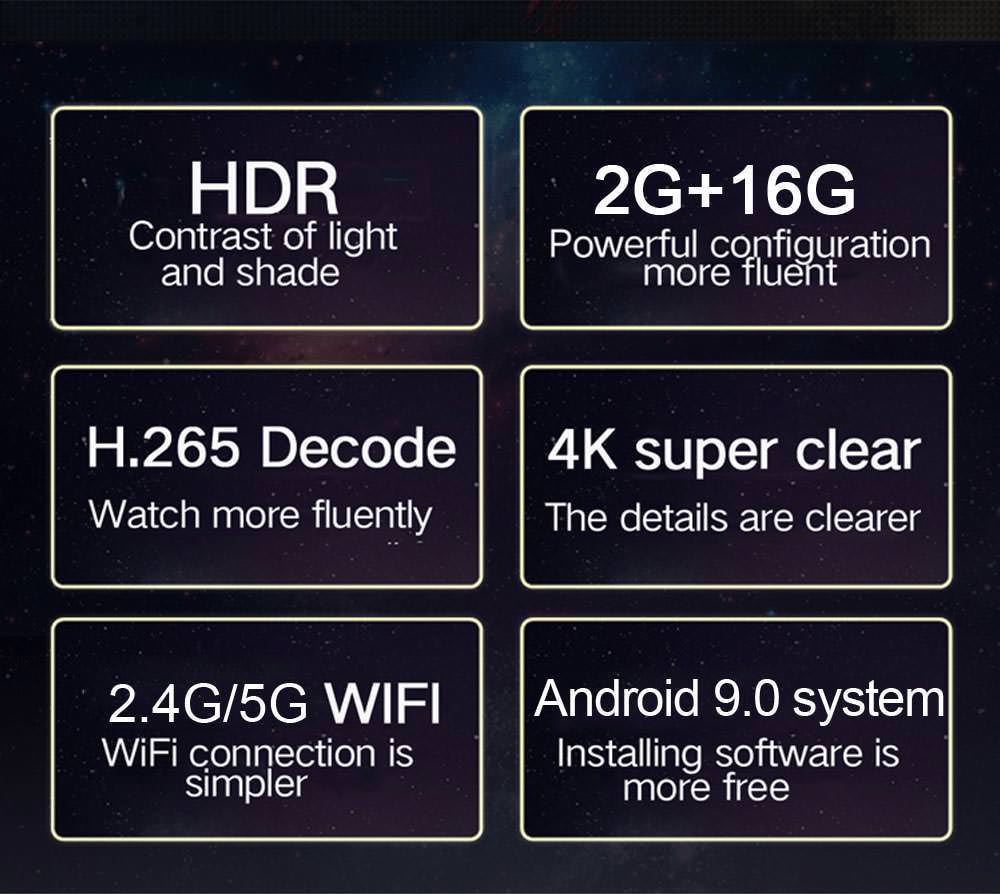 new h96 max+ tv box 2gb 16gb
