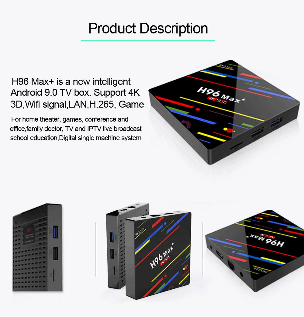 buy h96 max+ tv box 2gb 16gb