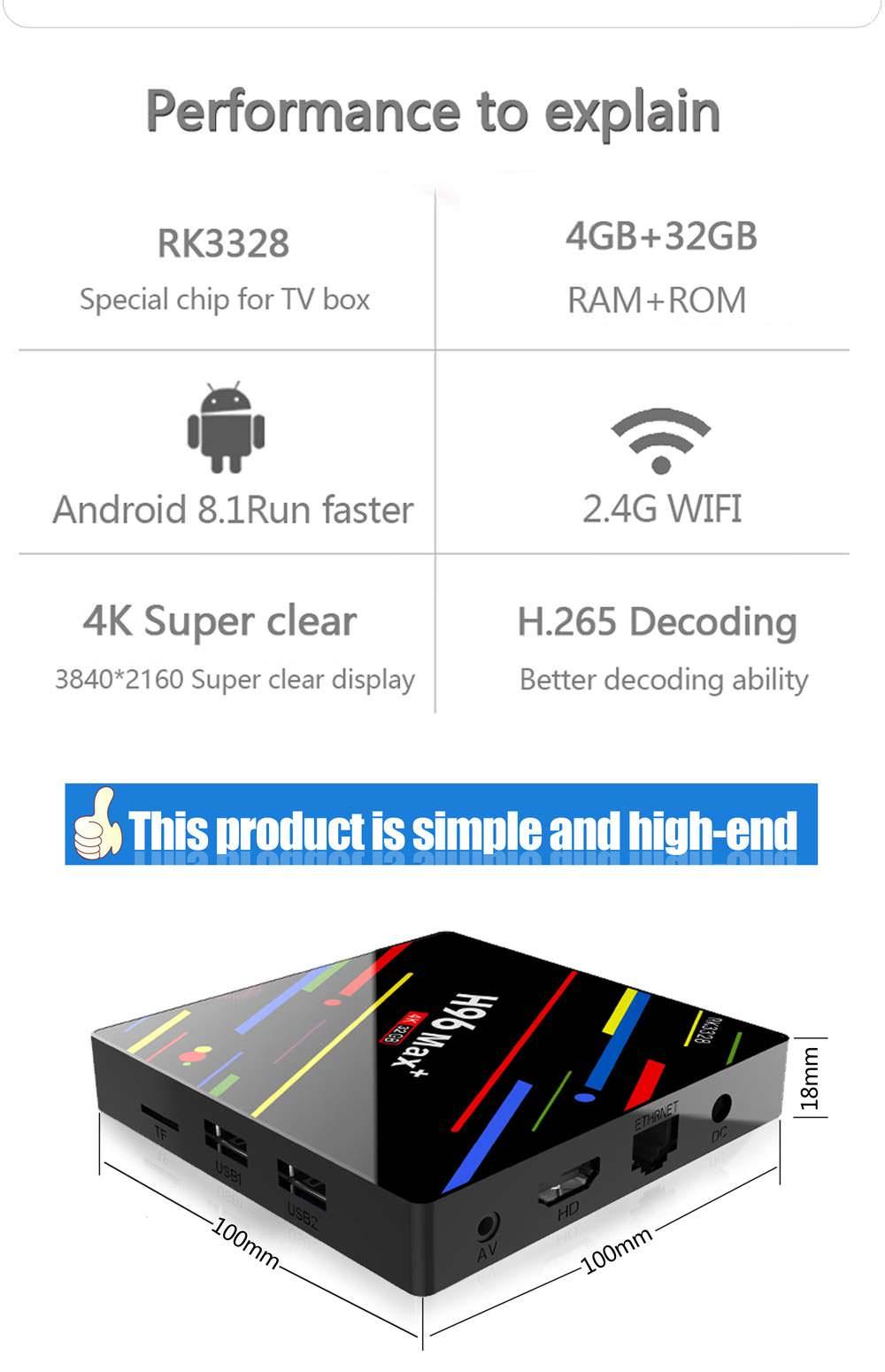 buy h96 max+ tv box 32gb