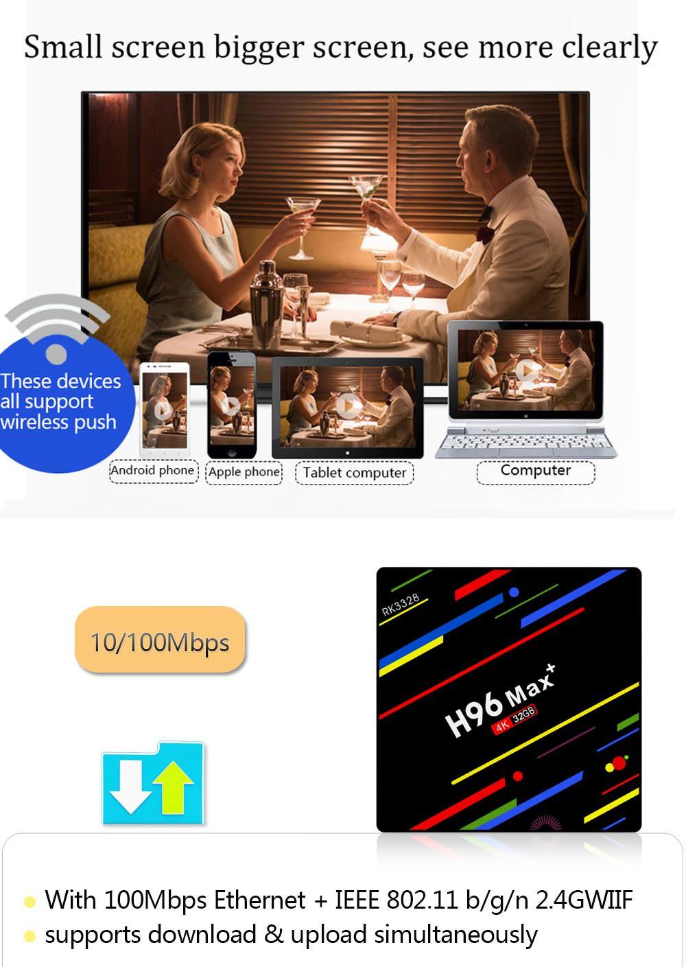 h96 max+ tv box 32gb