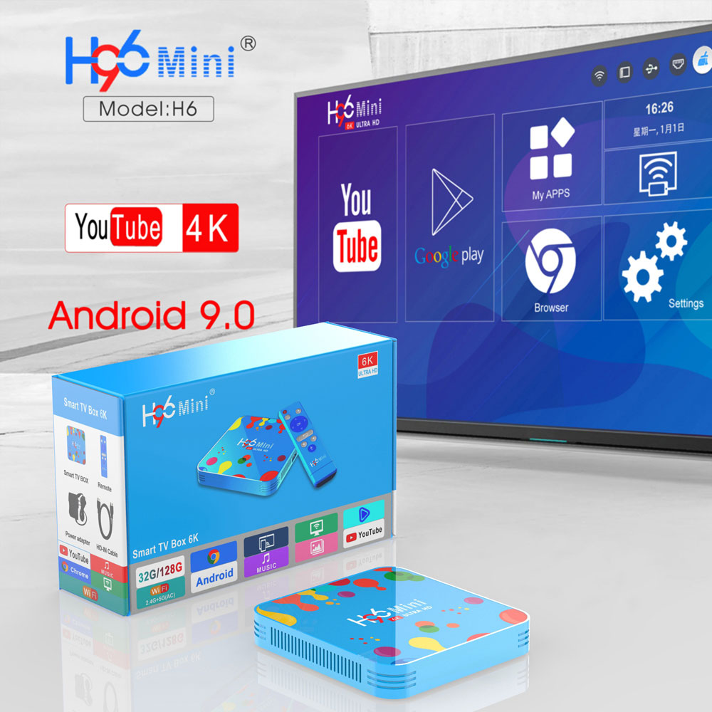 new h96 mini h6 tv box