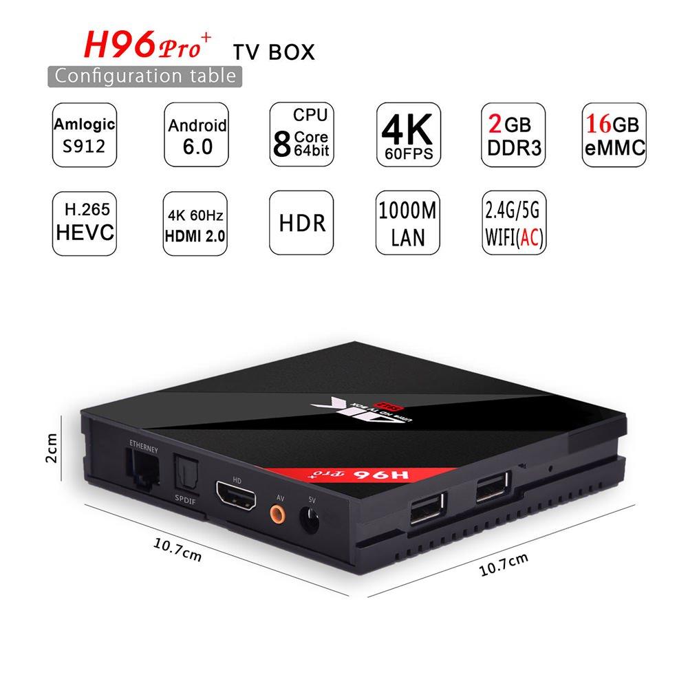 buy h96 pro plus tV box 2gb 16gb