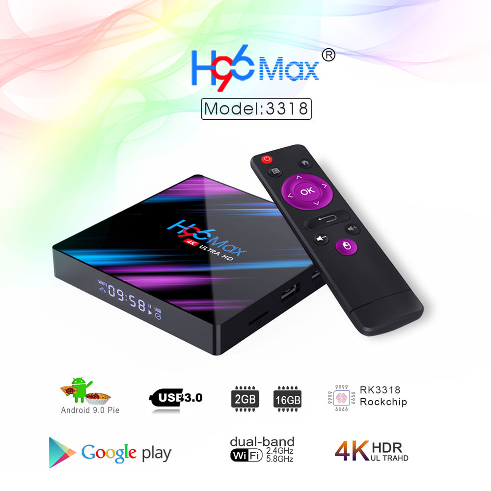 h96 max rk3318 2gb 16gb tv box