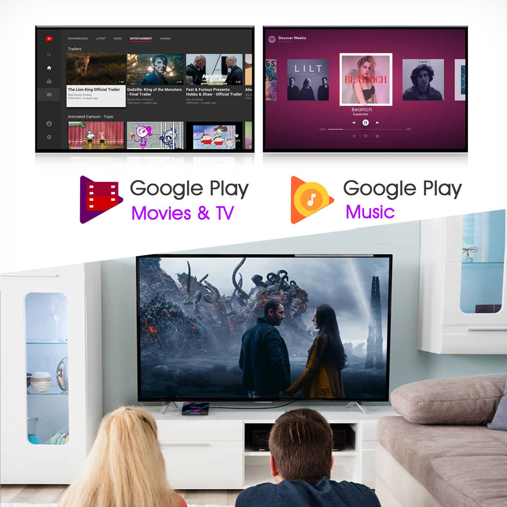 h96 max rk3318 4gb 32gb tv box 2019