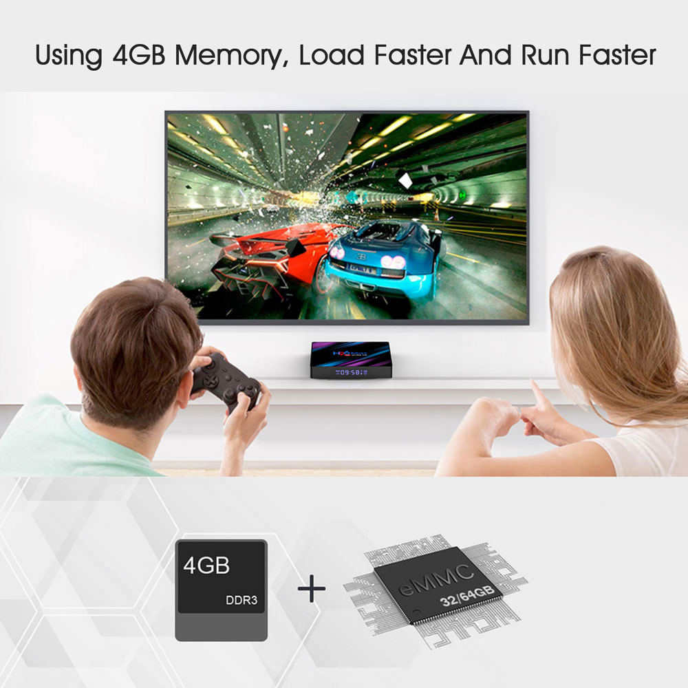 new h96 max rk3318 4gb 32gb tv box