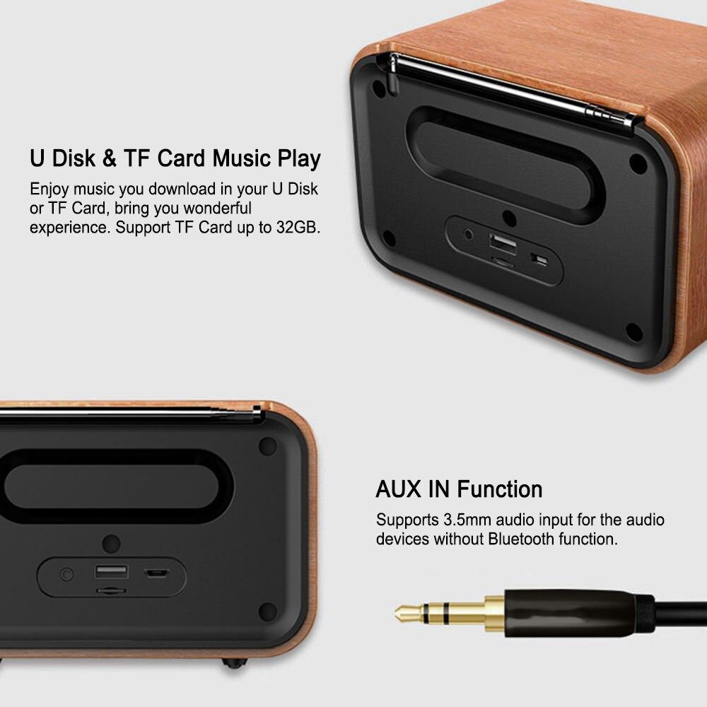 new i10 portable retro bluetooth speaker