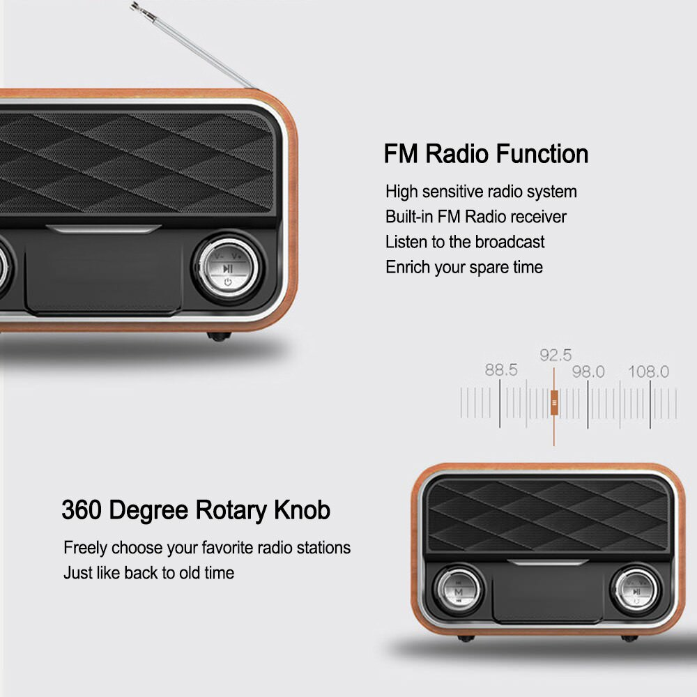 buy i10 portable retro bluetooth speaker