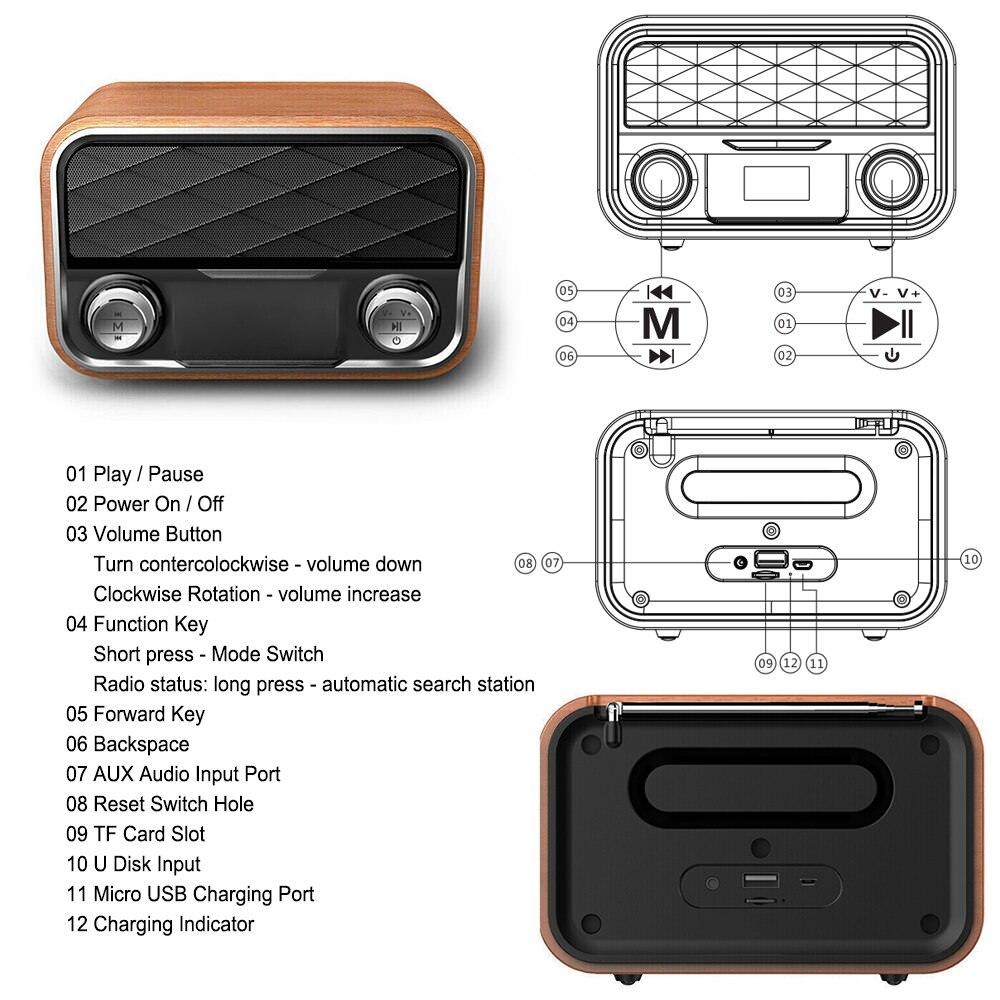 i10 portable retro bluetooth speaker review