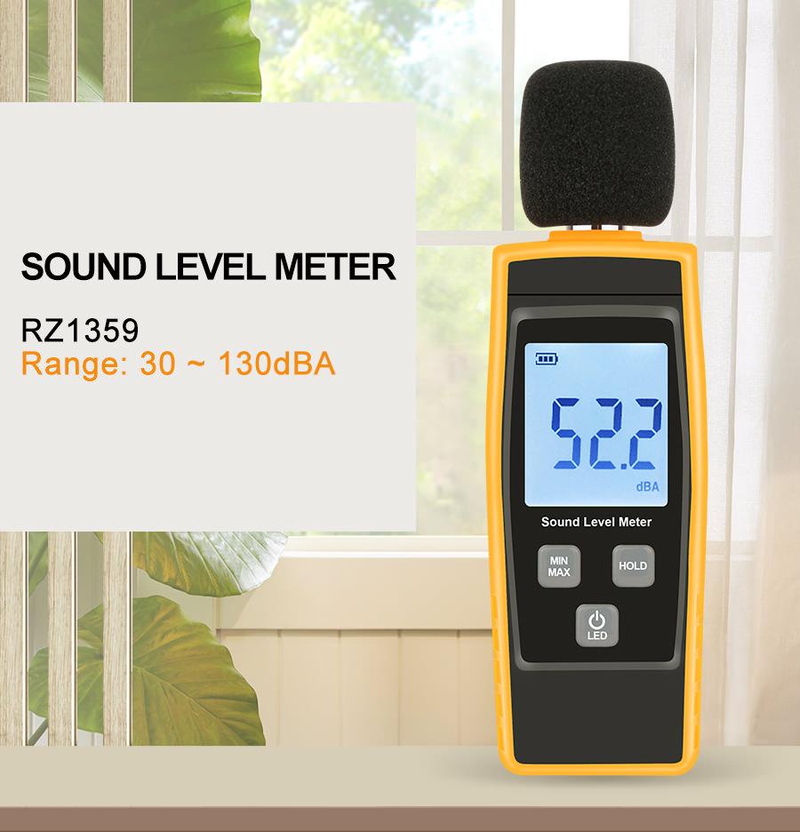 rz digital sound level meter rz1359