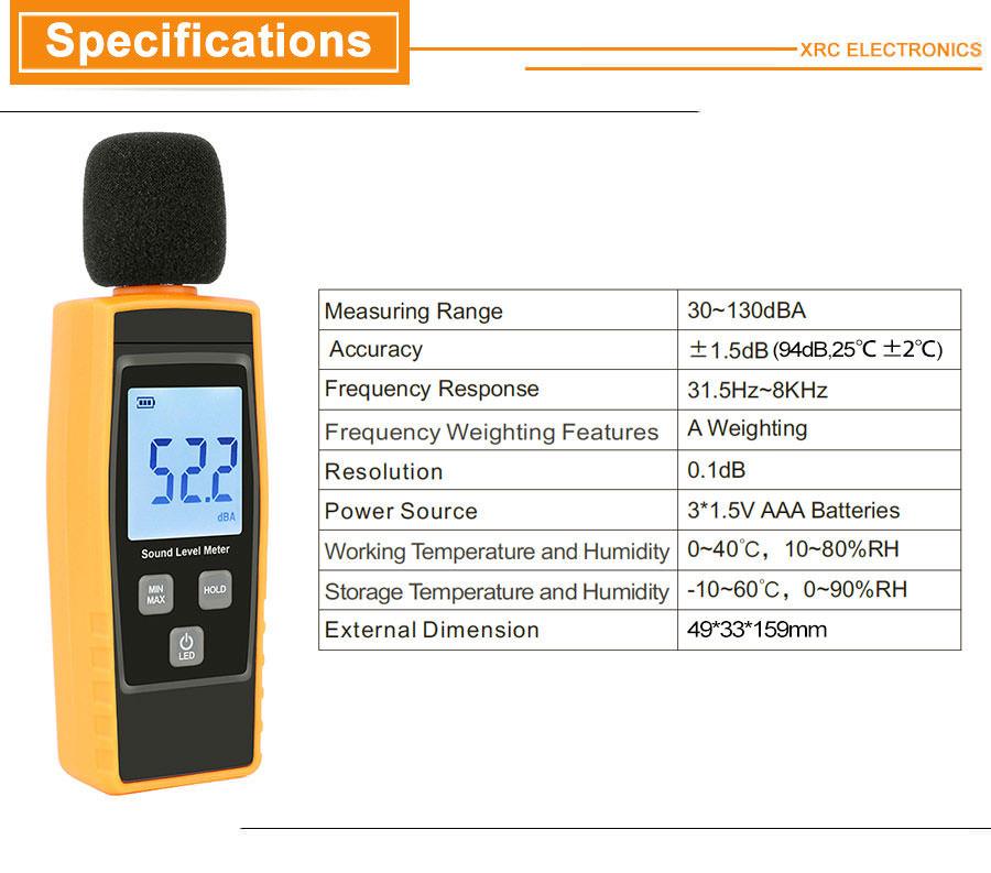 new rz digital sound level meter rz1359
