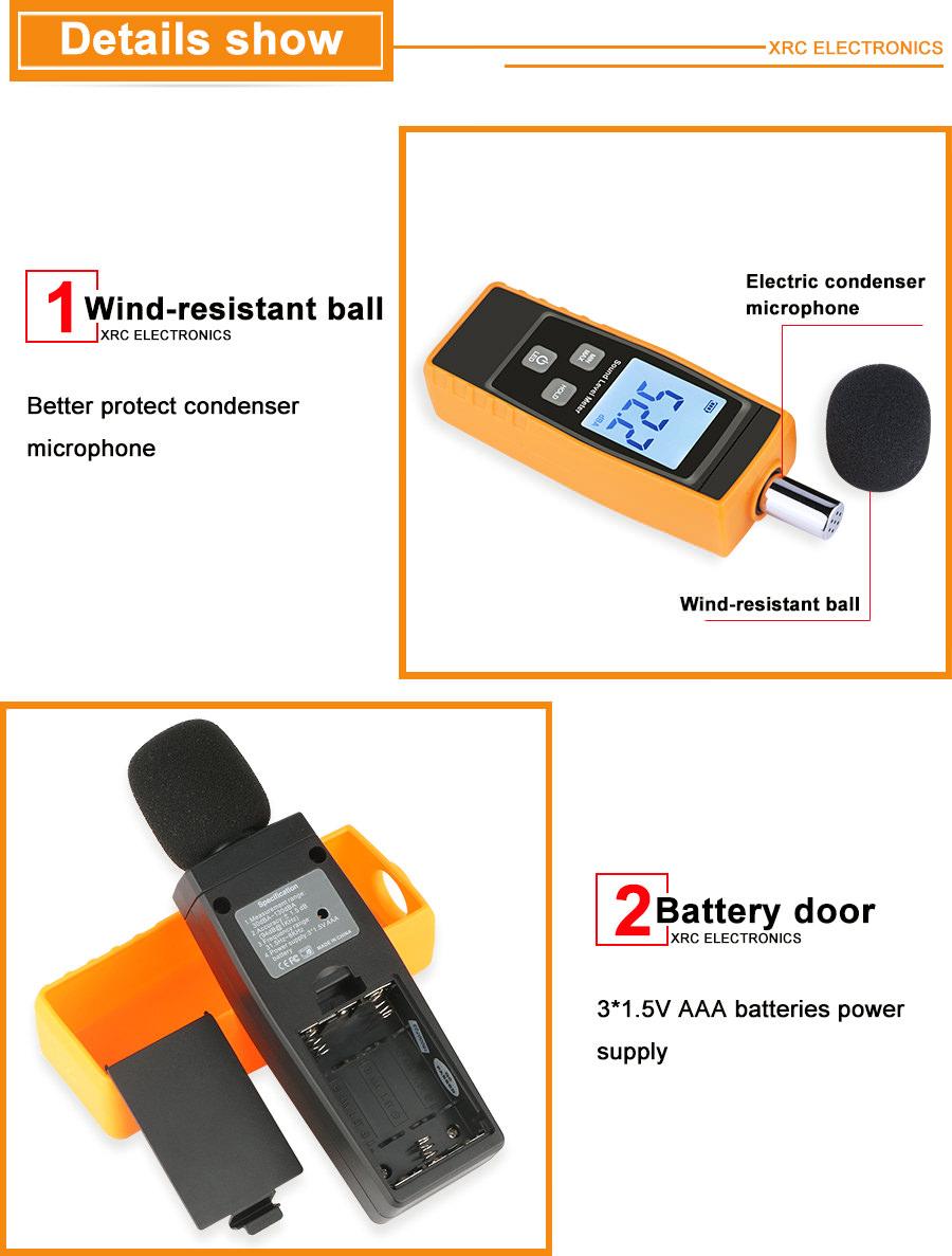 rz digital sound level meter rz1359 2019
